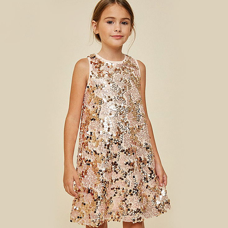 96583159abfd 4392 Princess Sequins Teens Girl Dress 7 14Y A line Sundress Kids Dresses  For Girls Summer Dress Wholesale Baby Girl Clothes Lot-in Dresses from  Mother ...