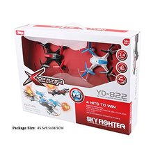 Attop Sky Fighter YD 822 2 4GHz 4CH 6 Axis Gyro RTF RC Quadcopter Battle Drone