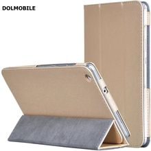 DOLMOBILE Silking Pattern PU Leather Case Cover for Huawei MediaPad M3 Lite 8 CPN-W09 CPN-AL00 8.0 Tablet Clear Screen Protector
