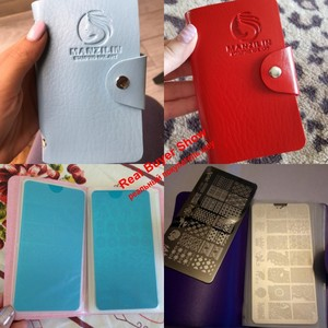 Image 5 - 1Pcs 24 Slots Nail Art Stamp Plate Stamping Plates Holder Storage Bag Cases 4 Colors Choice Stamp Bag Organizer For Nails Plates