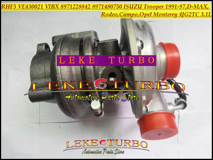 Free Ship Turbo RHF5 VE430021 VIBX 8971228842 8971480750 Turbocharger For ISUZU Trooper D-MAX For OPEL Monterey 4JG2 4JG2TC 3.1L free ship turbo rhf5 8973737771 897373 7771 turbo turbine turbocharger for isuzu d max d max h warner 4ja1t 4ja1 t 4ja1 t engine