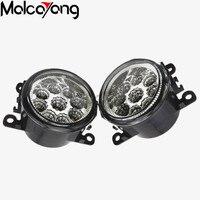 2 Pcs Set For Mitsubishi L200 2005 2015 Car Styling 6000K CCC 12V DRL Fog Lamps