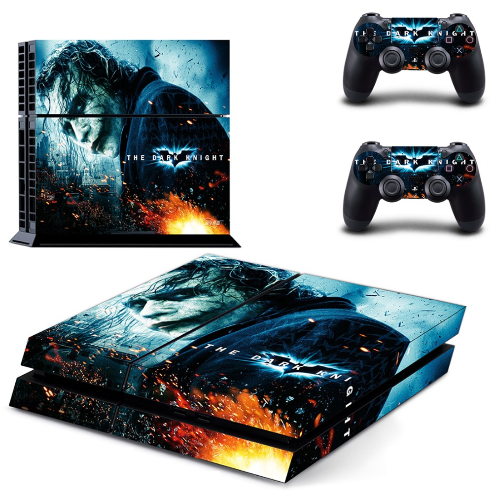 PS4 Sticker The Joker Vinyl Decal PS4 Console & Two ...