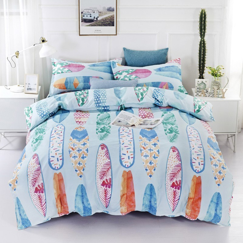 Summer Colorful Surfboard Bedding Set Duvet Cover Pillow Case Twin Full Queen King Super King Size Bedcloth Bed Cover 2/3pcs