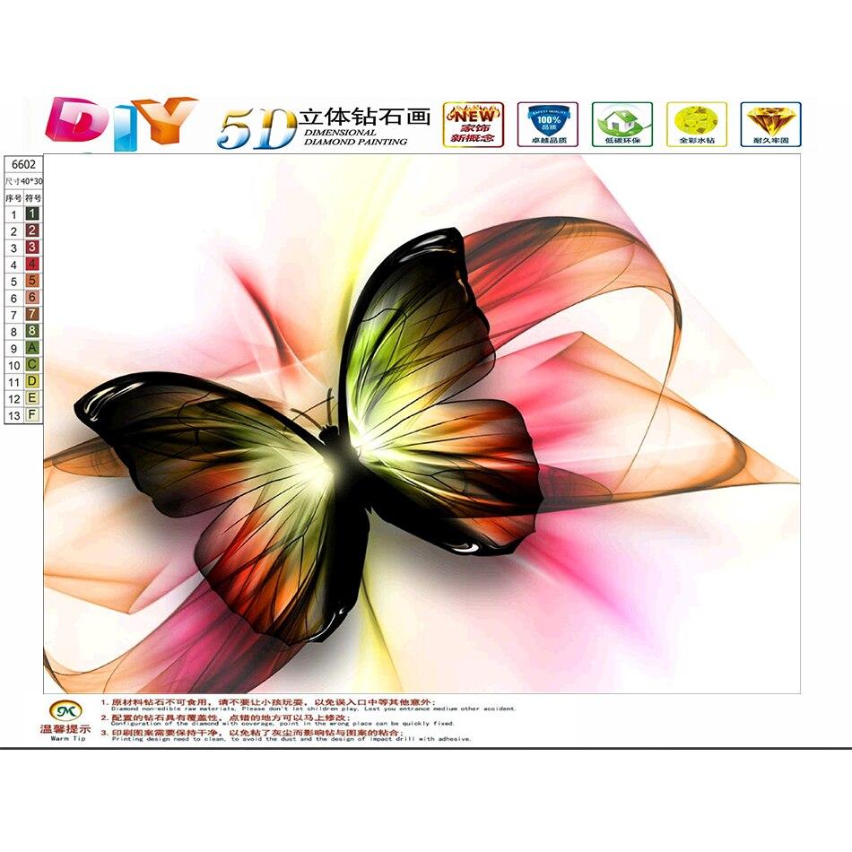 5d Diamond Obraz Kresleny Motyl Dekorativni Malba Loznice Pokoj
