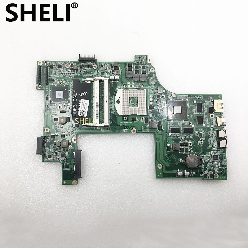 SHELI FOR DELL Laptop Motherboard Vostro 3750 V3750 Mainboard CN-01TN63 01TN63 DAV03AMB8E1 1TN63 HM67 GT525M 1G DDR3 100% Tested