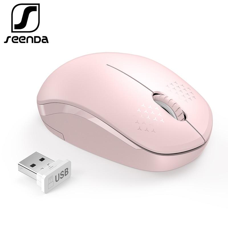 SeenDa Бесшумная мышь беспроводная 2,4G бесшумные кнопки эргономичная Бесшумная мышь для компьютера ноутбук мышь для настольного ноутбука ПК Mause-in Мыши from Компьютер и офис