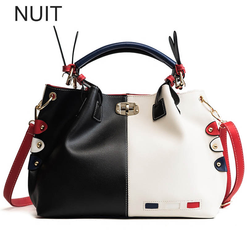 Fashion Women Bag PU Leather Large Capacity Tote Bag Ladies Designer Patchwork Handbags Female Casual Letter Shoulder Bag fashion new women big bag casual tote large capacity pu leather shoulder bag famous brand handbags designer ladies hand bag sac
