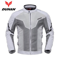 Men's 7 protectors DUHAN D183 Professional Racing Jacket Off Road Motorcycle Breathable Mesh Jacket Motocross Cloth jackets