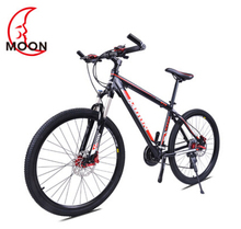 Moon mountain bike 26 inch 24 speed Aluminum Alloy 2017 new variable speed bicycle suspension double brake