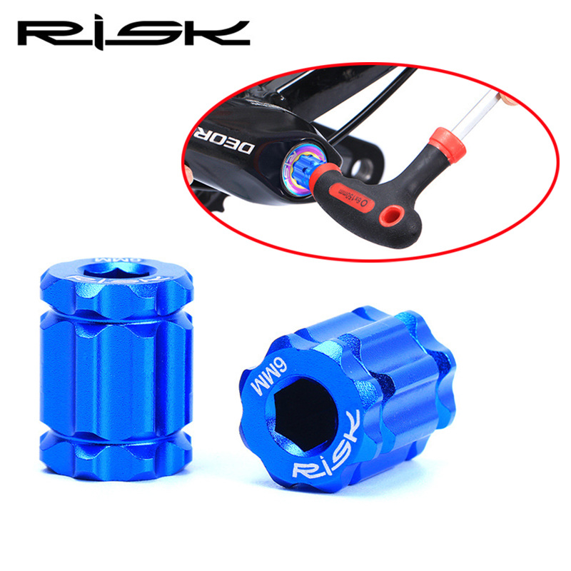 RISK Bike Crank Remove Install Tools Aluminum Plum Blossom Tool For MTB Road Bicycle Crank Arm Shimano Series Innovative Product