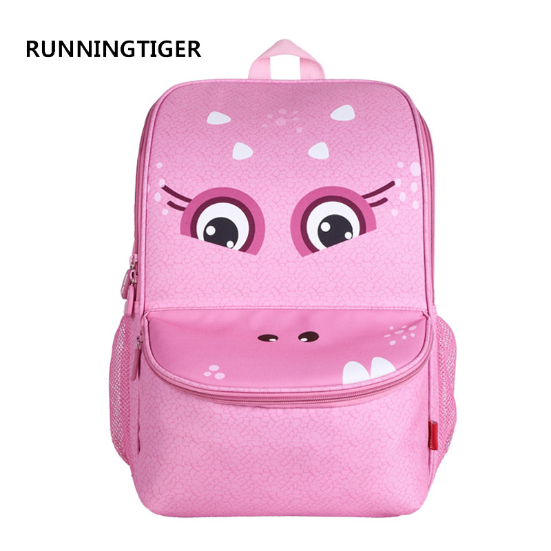 RUNNINGTIGER School Bags for Girls and Boys EVA Material Designed Cartoon Monster Mochila Escolar Fashion Kids Bag