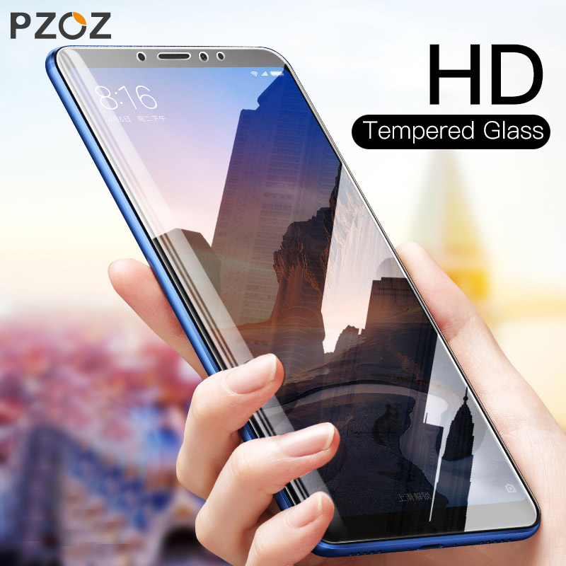 PZOZ Tempered Glass For Xiaomi Mi 8 SE A1 A2 5 5S Plus 5X 6X Mix 2S Max 2 3 Glass Transparent Screen Protector Film