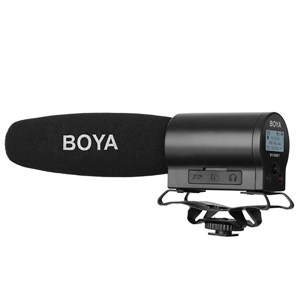 BOYA BY DMR7 конденсаторный микрофон на Камера 3,5 мм ЖК дисплей аудио кабель Запись Studio голос профессиональный студийный микрофон