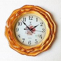 European clock room silent watch creative modern minimalist fashion retro pastoral diamond quartz clock watches Decoration Art q