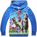 2015 outono roupa de criança Jurassic Park dinossauro do Hoodie crianças Jurassic camisola do mundo para meninos filme TV Costume crianças Top