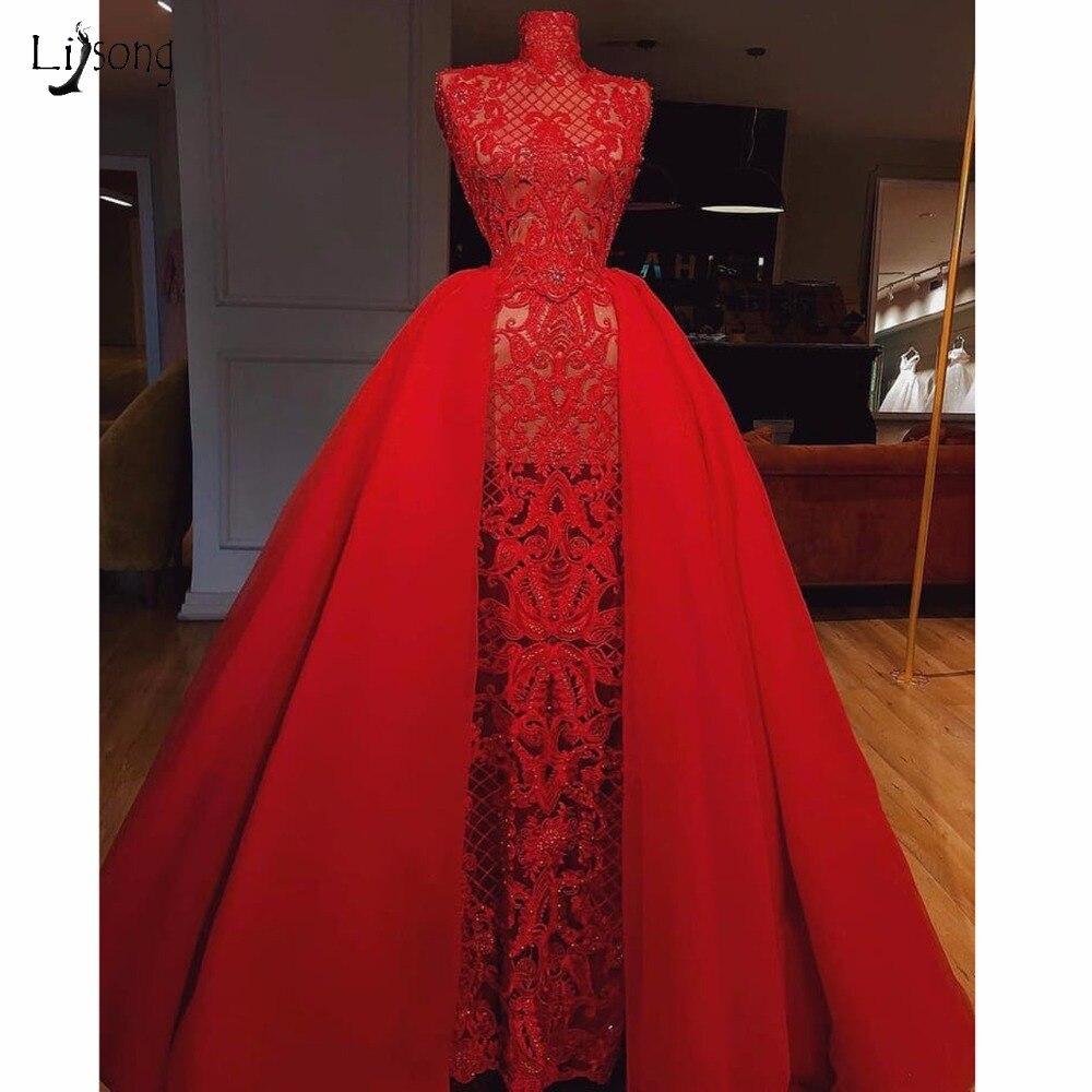 b0bf7300d0930 Hot Sale] Hot Sexy High Split Sequined Evening Dress Arabic Dubai ...