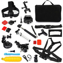 For Gopro Accessories Set Storage Bag For Gopro Hero 5 4 3 Kit Mount For SJCAM SJ4000 for Xiaomi Yi Eken H9 Camera Accessories