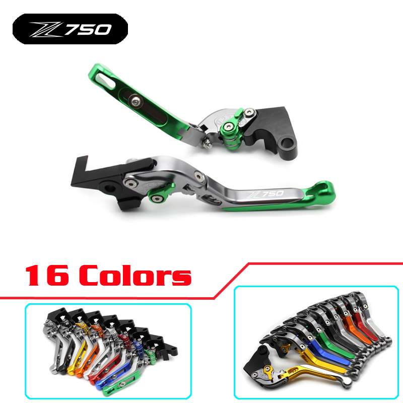 Z750 logo Motorcycle Brakes Clutch Levers handle bar hand grip For KAWASAKI Z750 2007 2008 2009 2010 2011 2012