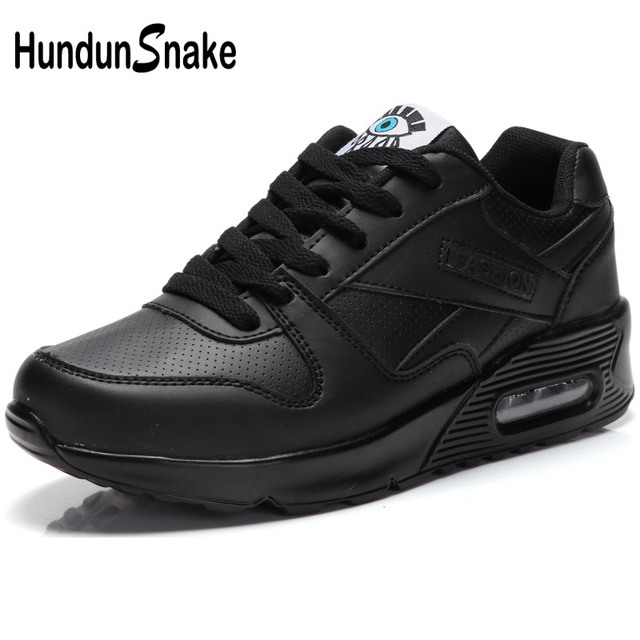 the best attitude 3725b f664a Hundunsnake Air Cushion Women Sport Sneakers Woman Sports Shoes Ladies  Leather Running Shoes Women Black Women s Sport Shoes T31