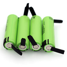 Batteries rechargeables au Lithium, feuille de Nickel à souder, 100% v 3.7 mAh 3400, 4 pièces/lot, 18650