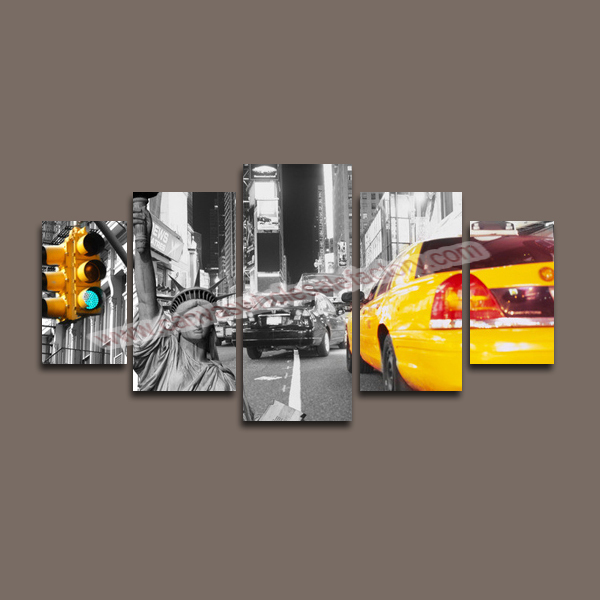 Cny Home Decor: Home Decor Canvas 5 Panel Canvas Art Of New York City Wall