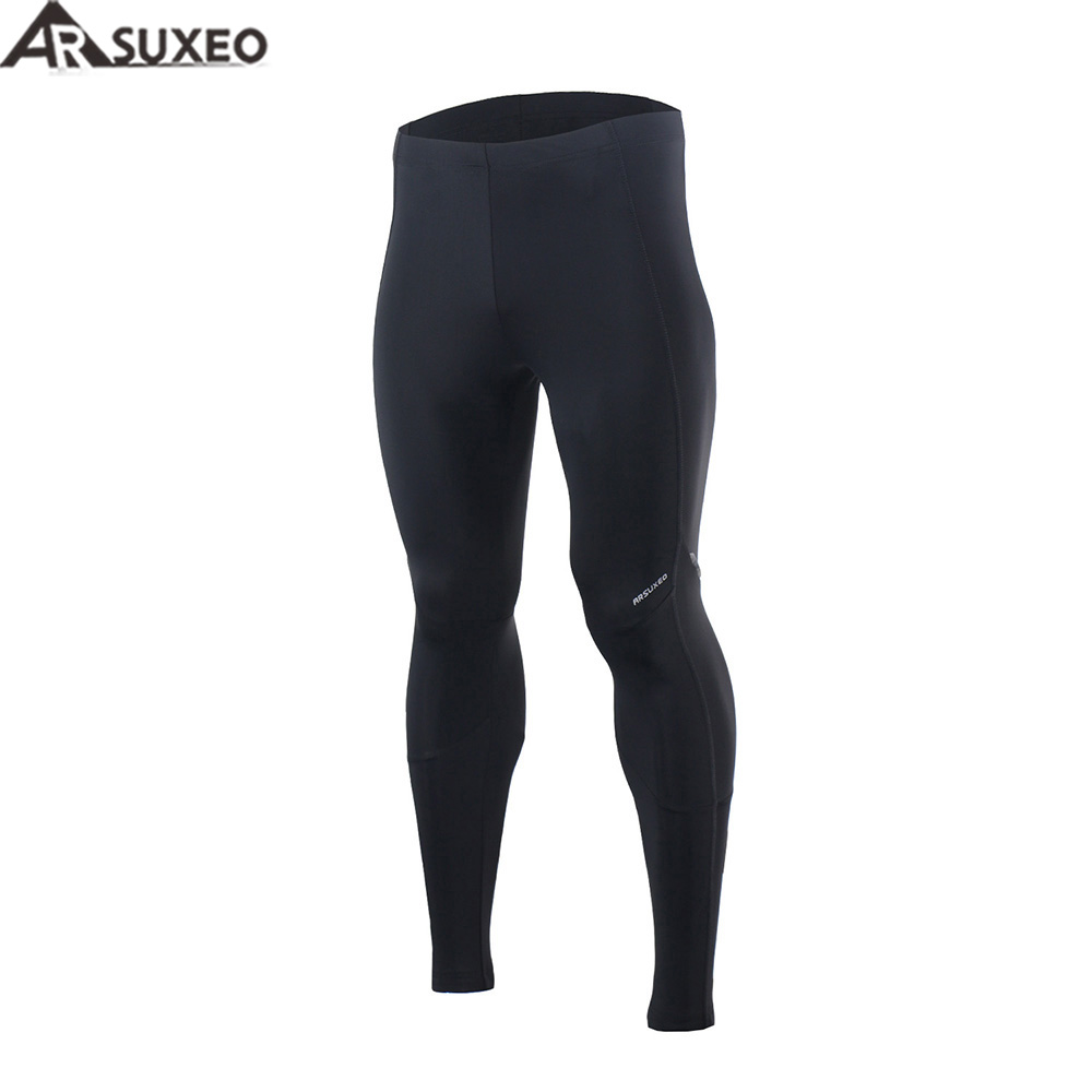 ARSUXEO Men's 3D Padded Cycling Compression Tights Bike Bicycle MTB Cycling Pants Breathable Quick Dry 16C91 west biking mtb road bike jacket 3d gel padded bicycle pants breathable quick dry cycling clothing bicycle bike jersey pants
