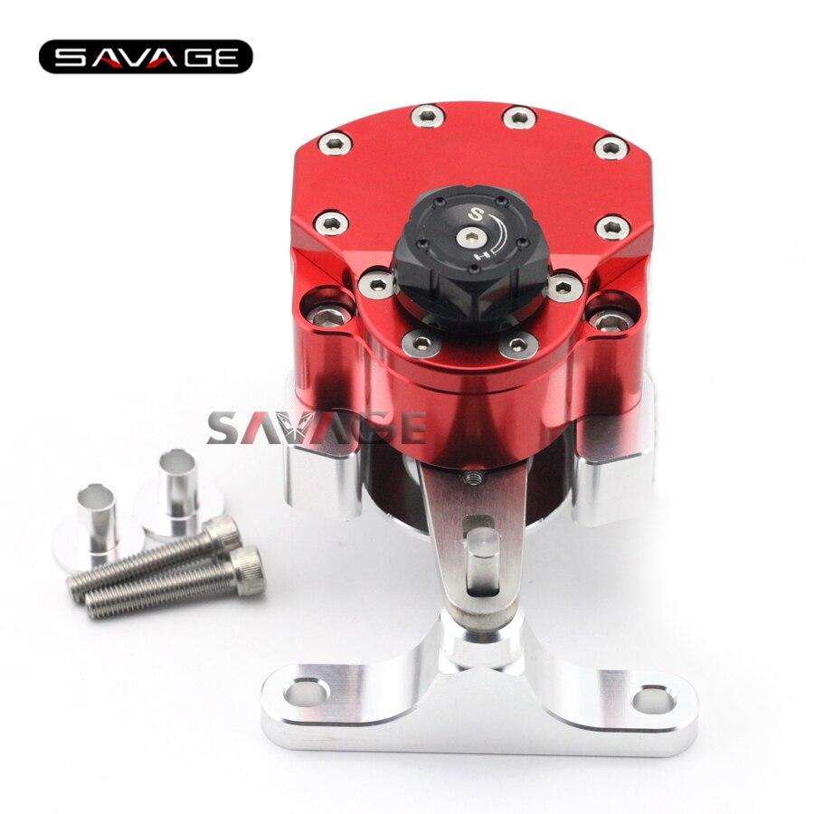 For HONDA CBR400R CBR500R CBR 400R/500R 2013-2017 Red Motorcycle Adjustable Steering Damper Stabilizer with Mount Bracket