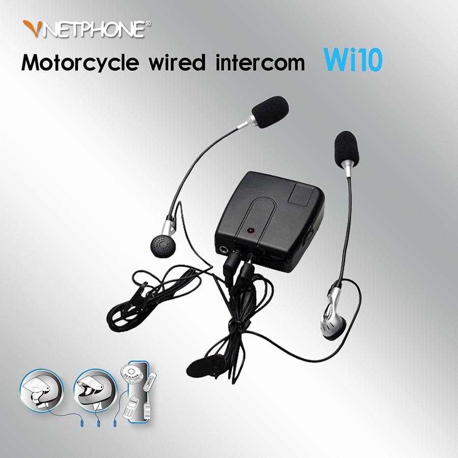 Vnetphone Headset Motorcycle Helmet Intercom Wired Interphone Riders ...