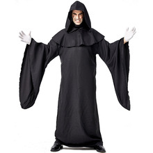 New Black Robe Demon Costume Cosplay Men Halloween Costume For Adult Carnival Party Devil Suit adult policeman costume for man police costume cosplay uniform halloween costume for men carnival party suit