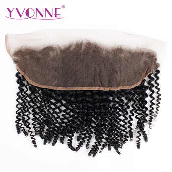 YVONNE Brazilian Kinky Curly Lace Frontal 13x4 Virgin Hair Natural Color 100% Human Hair Products - DISCOUNT ITEM  40% OFF All Category