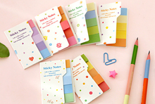 5-Pack , Rainbow Memo Pads candy color post it note memo pads stickers for daily