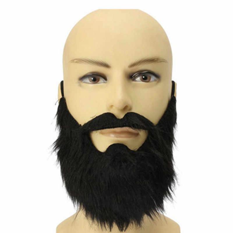 Vestido de fiesta de Halloween accesorios de Teatro de barba negra para disfraces de pirata de fantasía disfraz de elfo