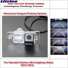 Liislee Intelligent Parking Tracks Rear Camera For Hyundai Avante AD 2015 2016 Backup Reverse / NTSC RCA AUX HD SONY CCD все цены