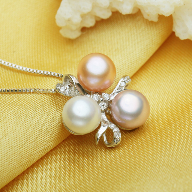 FENASY Fine Jewelry Pearl necklace ,Bohemia 2017 White pink purple pearl jewelry charm necklace women pearl pendant AliExpress