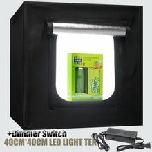 Interruptor de luces LED Cámara de Fotografía Caja De Luz Softbox 40×40 cm Portable tienda de Campaña Tienda de Iluminación de Estudio Para Joyería Juguetes Shoting