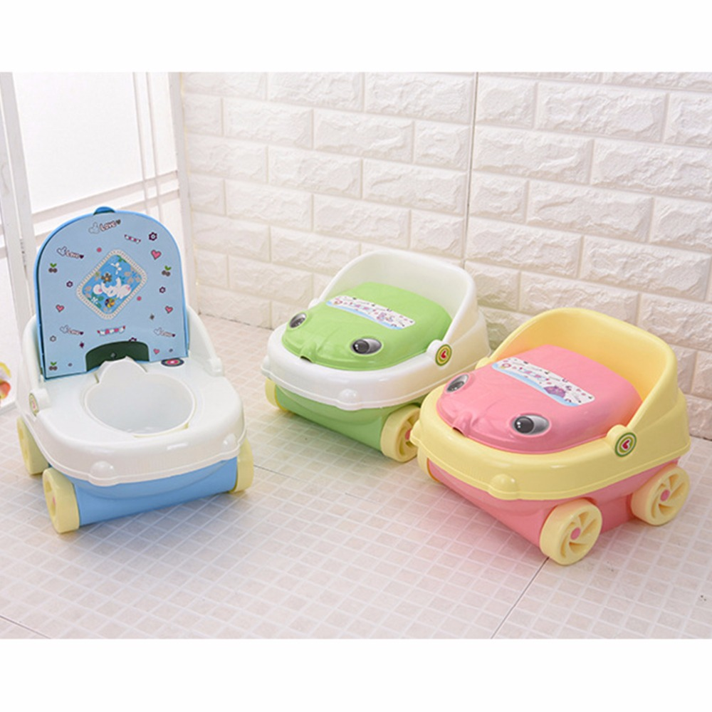 Portable commode folding bedside handicap adult toilet potty chair - Cartoon Baby Plastic Toilet Girls Boy Portable Potty Seat Folding Chair Cute Car Drawer Training Potty Toilet Ring