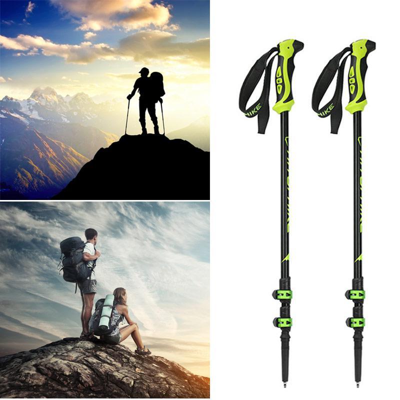 14 pièces bâton de randonnée bâton de marche canne de marche en aluminium Ski Camping bâton bâton de randonnée équipement de Camping en plein air