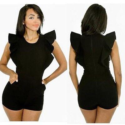 f6d287875d0f Ladies White Black Short Bodycon Sleeveless Party Playsuit Jumpsuit 6 8 10