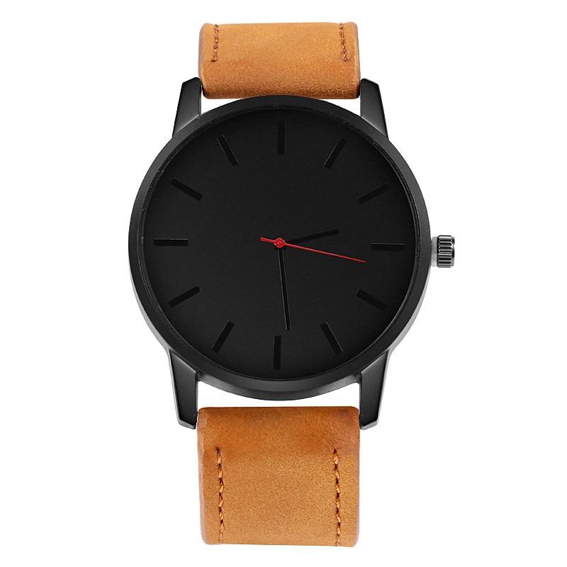 Relogio Masculino Men's Watch Fashion Leather Quartz Watch Casual Sports Watches Men Luxury Wristwatch Hombre Hour Male Clock 2