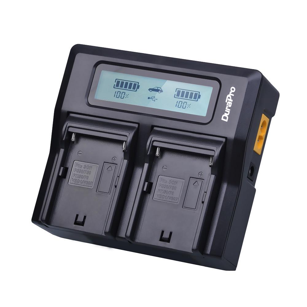 2x7200 mAh NP-F970 NP-F960 NP F970 Batteries avec alimentation LED Indicateur + LCD Chargeur Rapide pour SONY HVR-HD1000 HVR-HD1000E HVR-V1J - 4