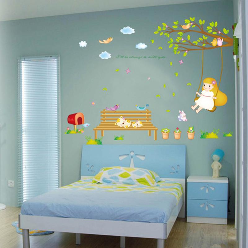 3d wall sticker musim semi maksud gambar untuk kamar tidur anak anak