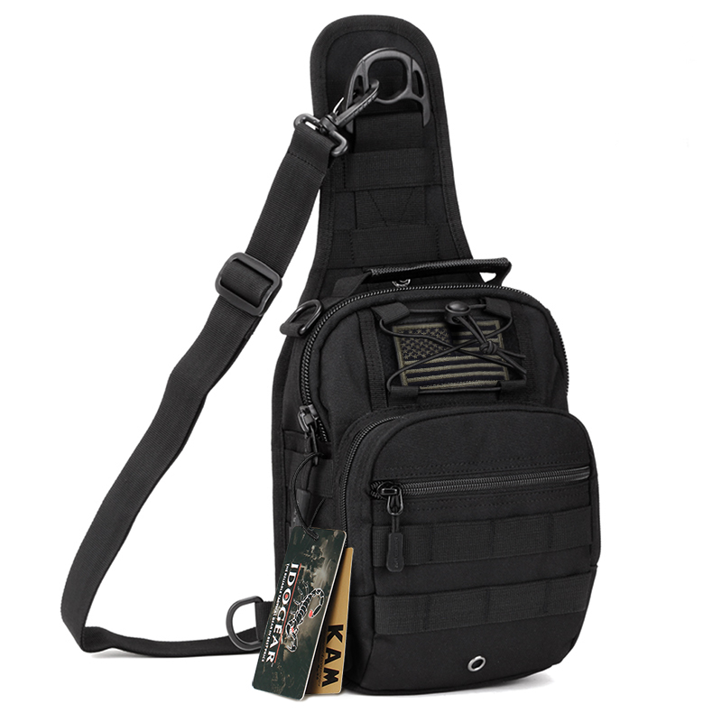IDOGEAR Tactical Sling Bags Pack Small EDC Molle  Outdoor Rover Sling Backpack Waterproof Chest Backpacks Four Ways Bag BG3505