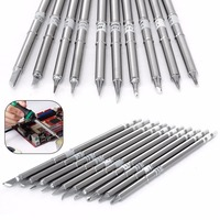 10pcs Replaceable T12 Handle T12 k BC2 BL BC1 BC3 Soldering Iron Tips Alloy Iron 155mm Length For HAKKO FX951 FX952