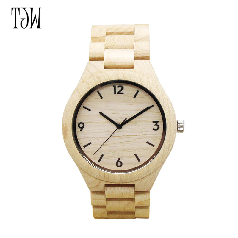 Simple Fashion Nature Wood Watch Analog Sport Bamboo  Genuine For Men Women  Wooden Bamboo Watch LL@17