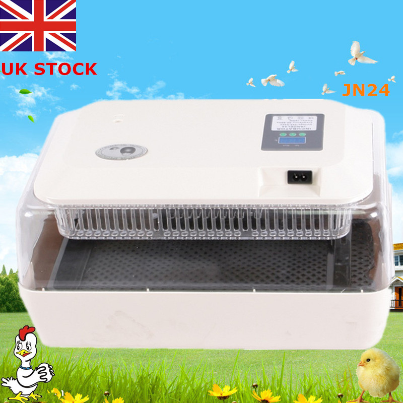 new 1pcs LED display 24 chicken incubator automatic egg duck poultry quail duck incubators free ship to au new sale home automatic egg incubator 56 eggs chicken incubator brooder quail eggs incubators