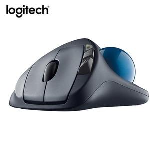 Image 4 - Logitech souris Laser sans fil M570, 100% Ghz, Trackball, ergonomique, verticale, professionnelle, pour windows 10/2.4, 8/7 originale