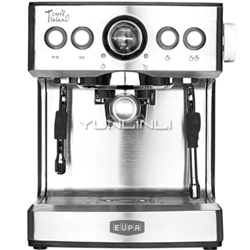 Commercial Espresso Maker Household Fully Semi-automatic Steam Coffee Machine Coffee Maker TSK-1837B бульонница фисташковая 500 мл 751099