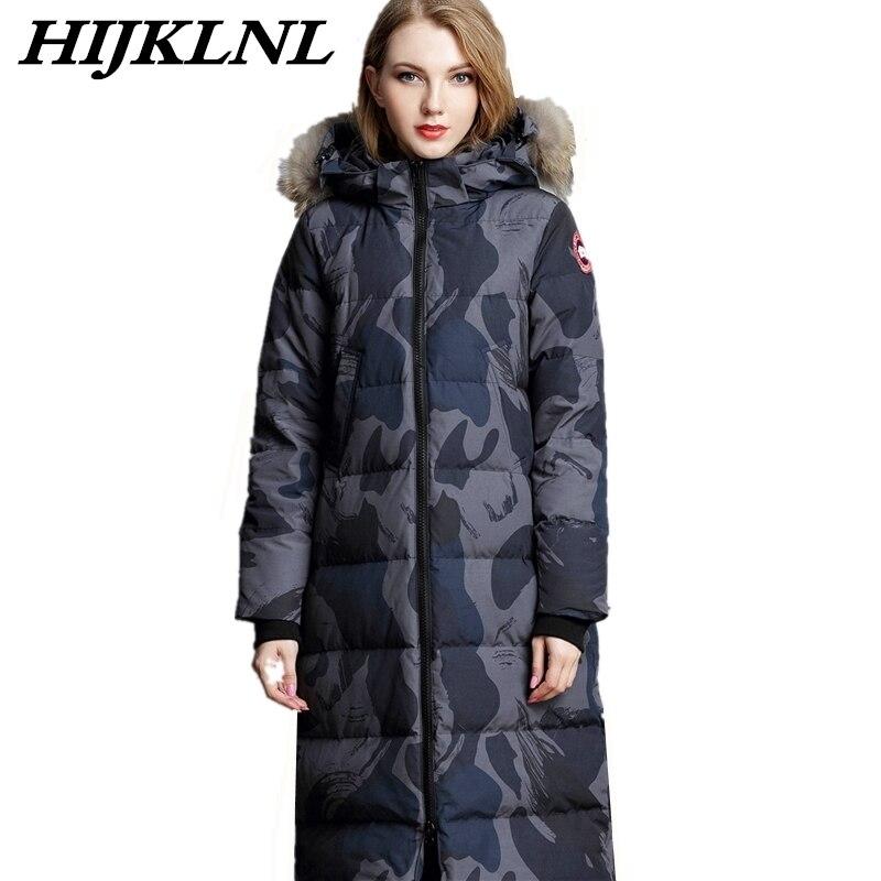2019 Women Winter Down Coat Large Size Long Down Jacket Women Thicken Hooded Fur Collar Coat Fashion Warm Couple Outerwear CW055