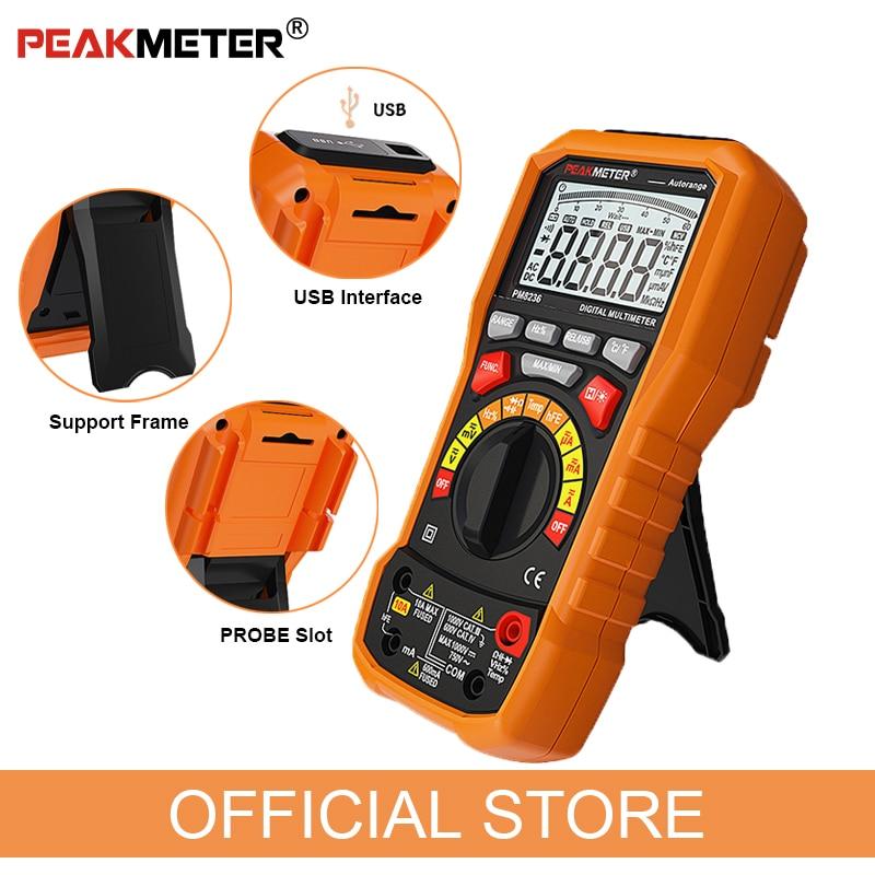 Oficialus PEAKMETER PM8236 automatinis rankinis diapazono - Matavimo prietaisai - Nuotrauka 5